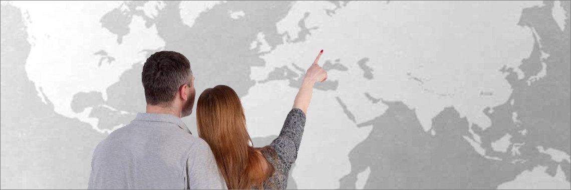 Mapa de Europa: Rumanía y España