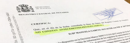 Certificado de Antecedentes Penales español
