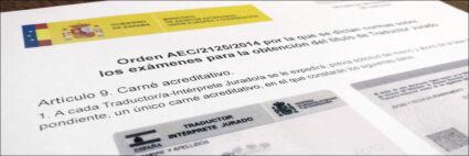 La Oficina de Interpretación de Lenguas y los Traductores Jurados